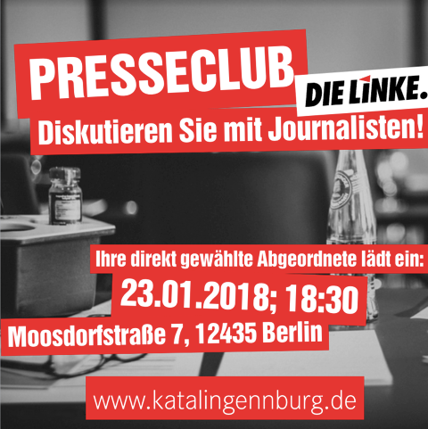 Presseclub Dienstag 23.01.2018